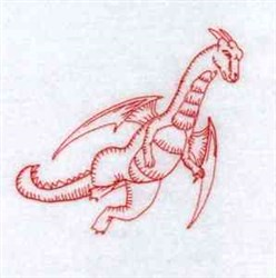 Redwork Dragon embroidery design