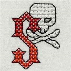 Heavy Metal Letter S embroidery design