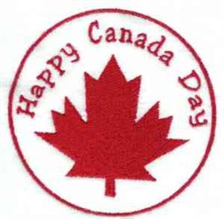 Happy Canada Day embroidery design