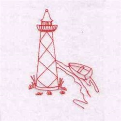 Redwork Lighthouse embroidery design