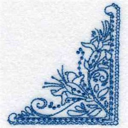 Line Art Lily Corner embroidery design