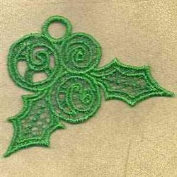 FSL Holly Ornament embroidery design