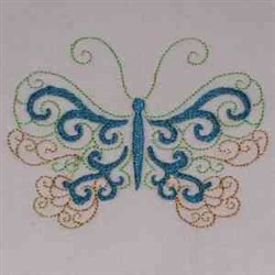 Lacy Butterfly embroidery design