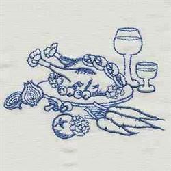 Bluework Kitchen Dinner embroidery design