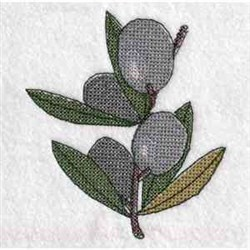 Cross Stitch Olive Branch embroidery design