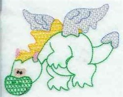 Lacy Dragon embroidery design
