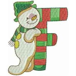 Christmas Font Letter F embroidery design