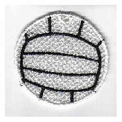 FSL Volleyball Ornament embroidery design