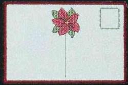 Poinsettia Postcard embroidery design