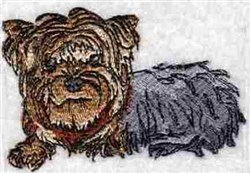 Yorkie embroidery design