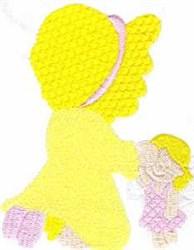 Kneeling Sunbonnet Girl embroidery design