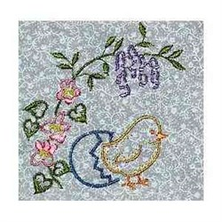 Easter Chicken embroidery design