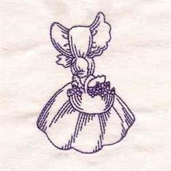 Bluework Vintage Girl embroidery design