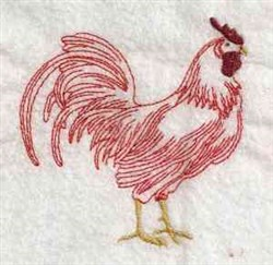 Redwork Rooster embroidery design