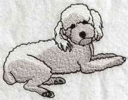 Poodle embroidery design