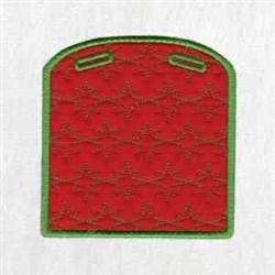 Xmas Box Back embroidery design