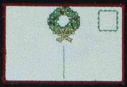 Wreath Postcard Back embroidery design