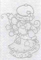 Bluework Winter Girl embroidery design