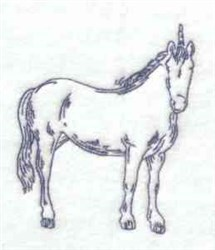 Bluework Unicorn embroidery design