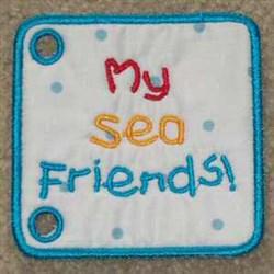 Sea Book Cover embroidery design
