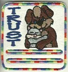 Trust Pet Patch embroidery design