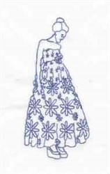 Bluework Lady embroidery design