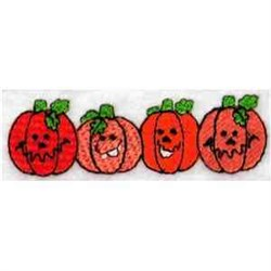 Funky Pumpkins embroidery design