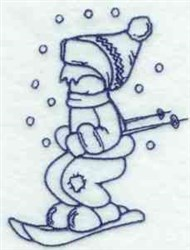 Bluework Winter Boy embroidery design