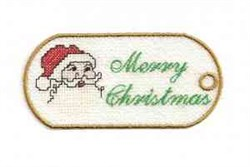 FSL Christmas Tag embroidery design