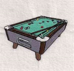 Pool Table embroidery design