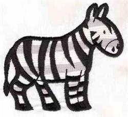 Applique Zebra embroidery design