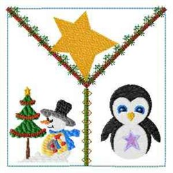 Penguin Quilt Block embroidery design