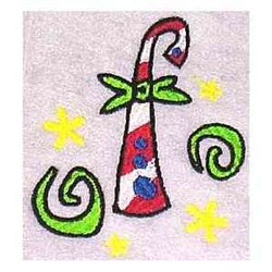 Silly Candy Cane embroidery design