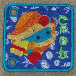 Sea Book Crab embroidery design