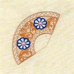 Lace Fan embroidery design