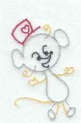 Line Art Mouse embroidery design