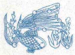 Bluework Fish embroidery design