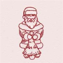 Redwork Vintage Santa embroidery design