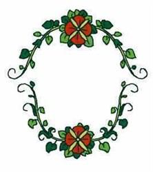1 Letter Monogram Frame embroidery design
