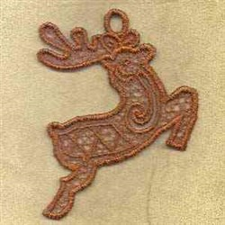 FSL Reindeer Ornament embroidery design