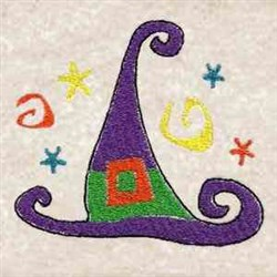 Whimsical Witch Hat embroidery design