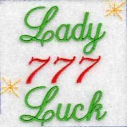 Casino Lady Luck embroidery design