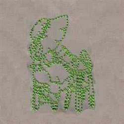 Redwork Easter Bonnet embroidery design