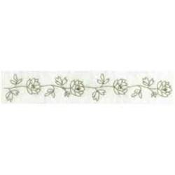 Floral Border Outline embroidery design