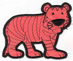 Applique Tiger embroidery design