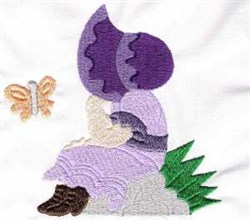 Spring Sunbonnet Girl embroidery design