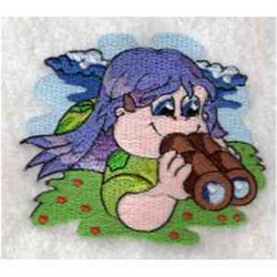 Girl Camping embroidery design