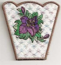 Lily Side Project embroidery design