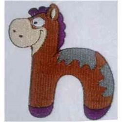 Animal Alphabet h embroidery design