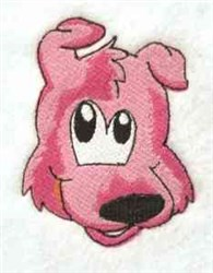 Cartoon Dog Head embroidery design